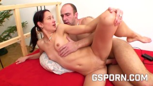 Homemade Czech Tiny Teen Fucked For Money By Big Cock